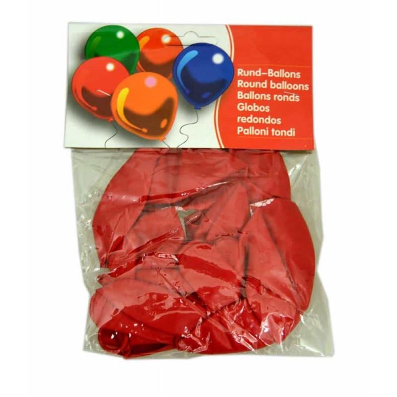 Set baloane culoare roșu inscripționate cu inimioară 12buc 30cm