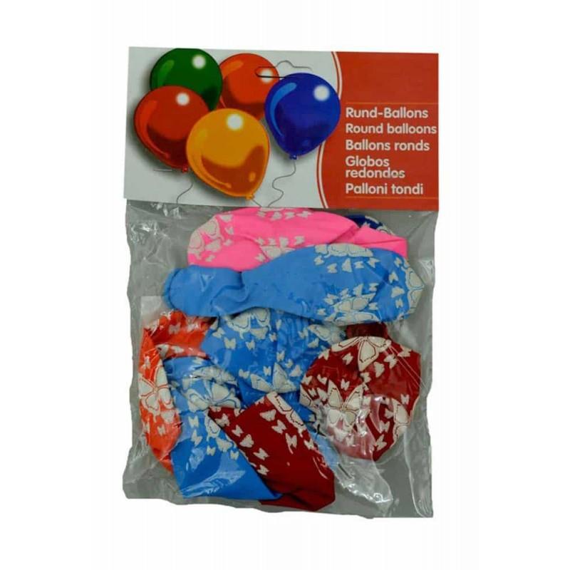 Set baloane inscripționate cu fluturași pentru aniversări 10buc 30cm