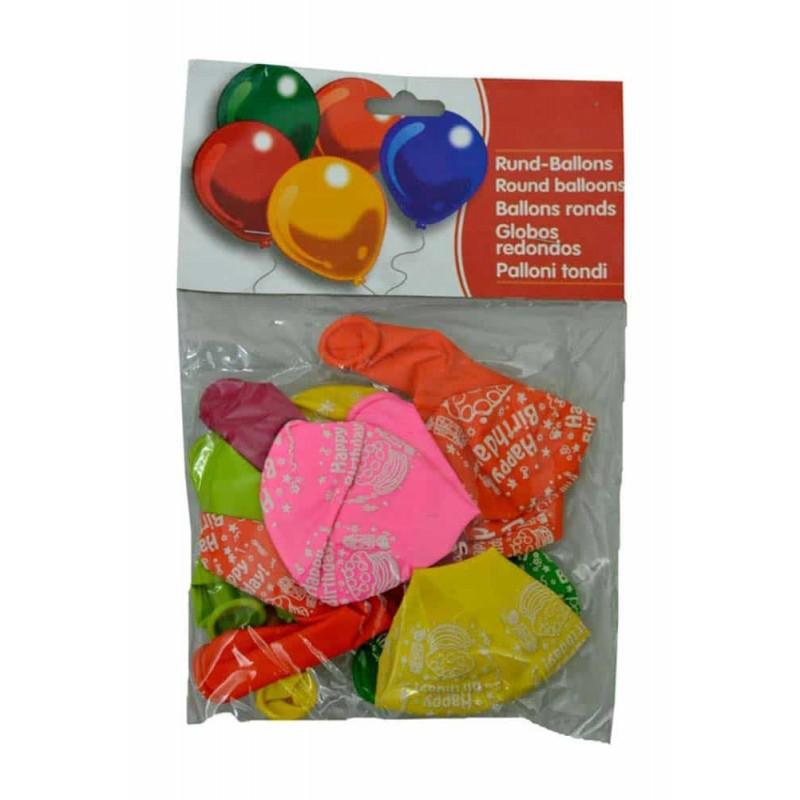 Set baloane inscripționate Happy Birthday pentru aniversări 10buc 30cm