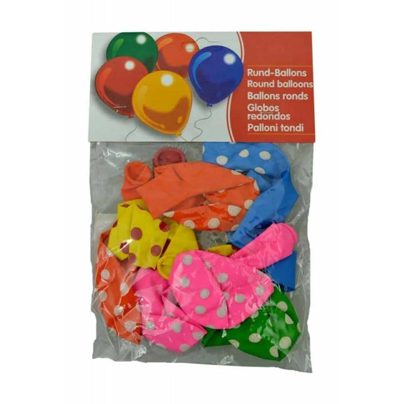 Set baloane inscripționate cu buline pentru aniversări 10buc 30cm