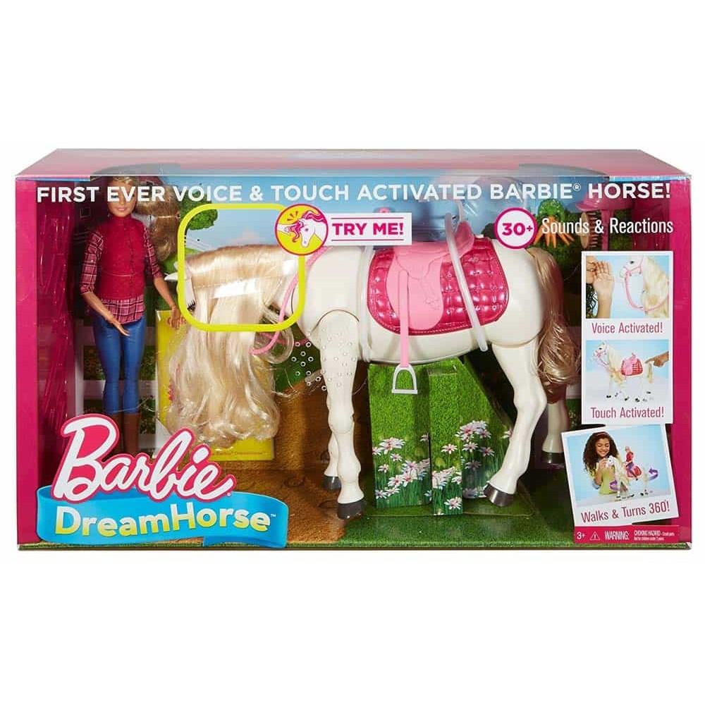 Barbie DreamHorse Barbie cu cal alb interactiv