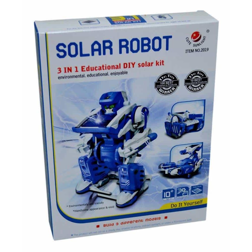 Kit robotic solar 3 în 1 transformabil set educativ pentru copii
