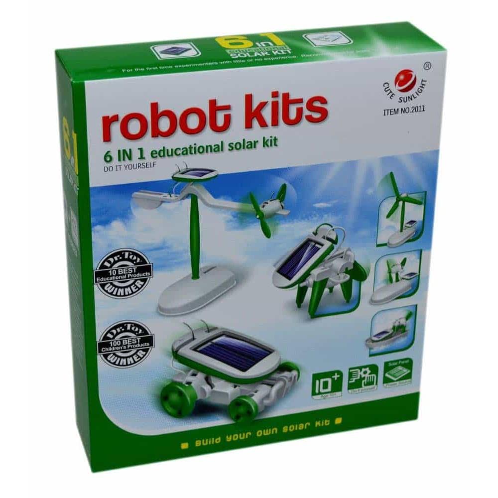 Kit robot educațional solar 6 în 1 de montat set educativ pentru copii