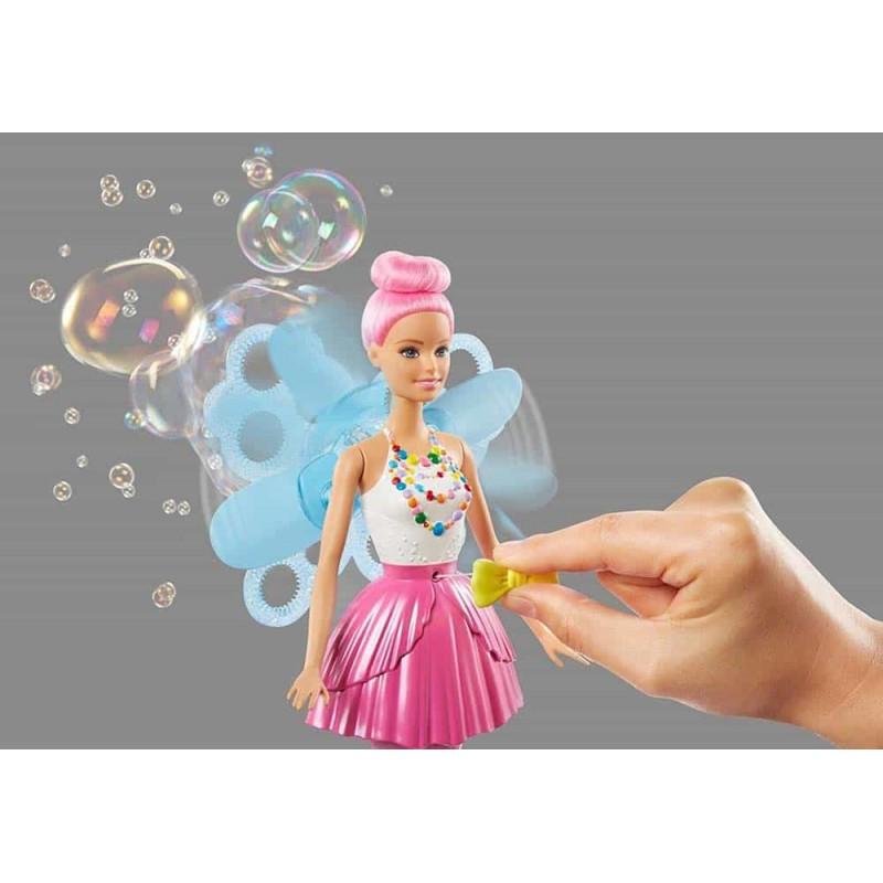Păpușă Barbie Dreamtopia zână cu baloane de săpun DVM95