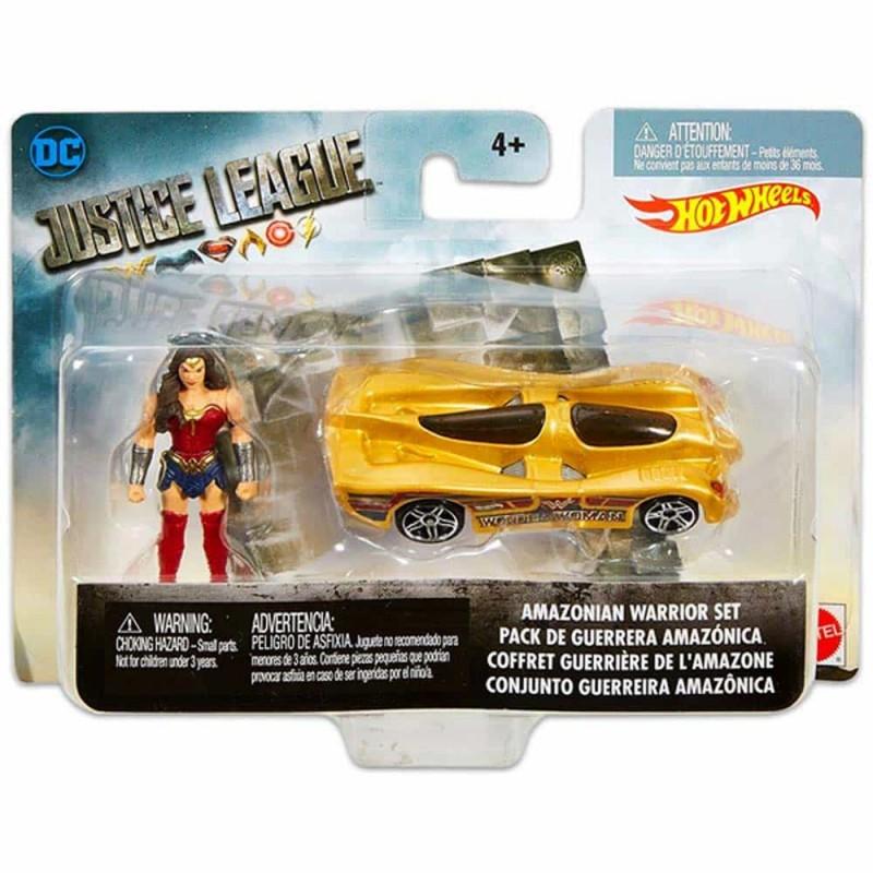 Hot Wheels Justice League Wonder Woman cu mașină FRR61