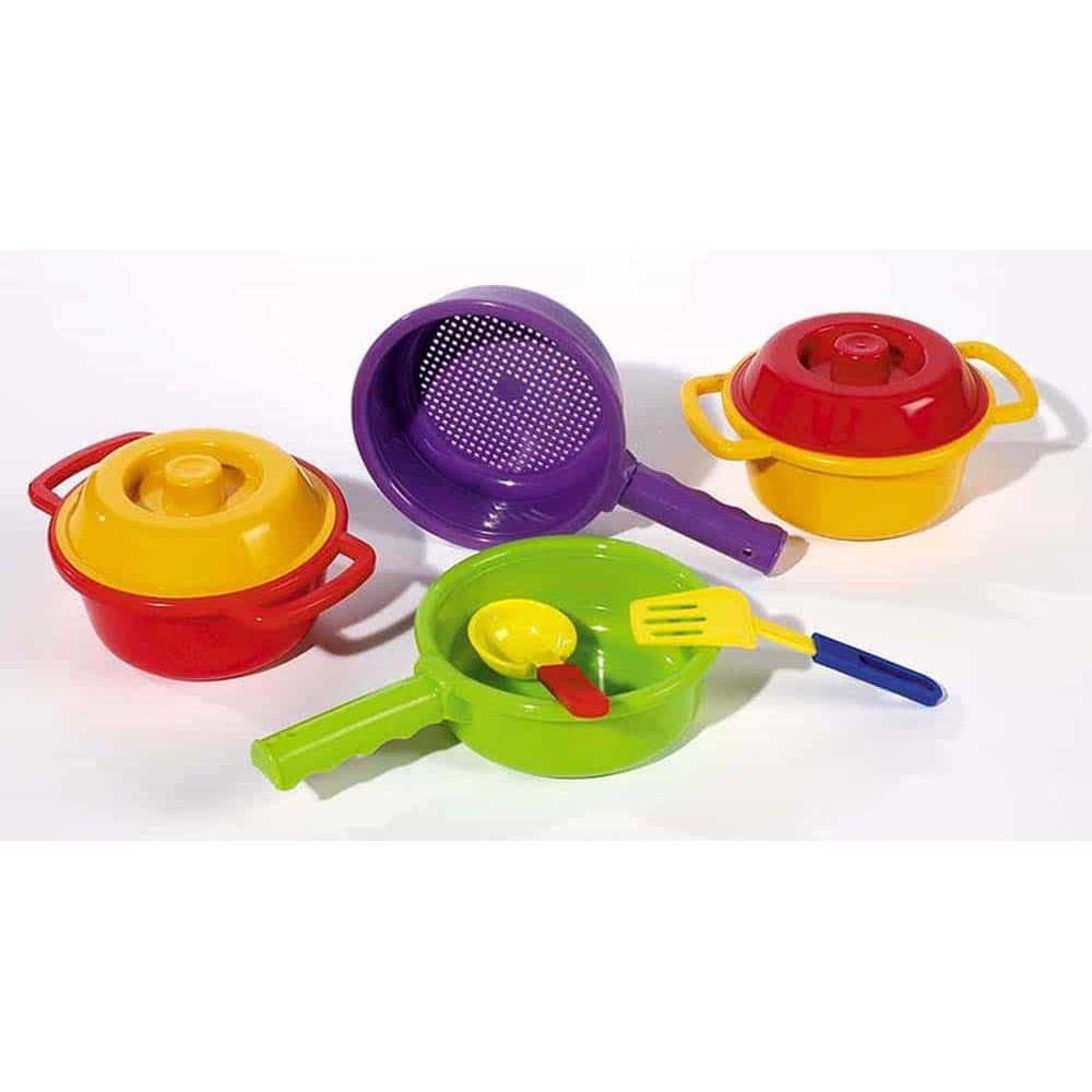 Set de gătit pentru copii Kitchen Star din plastic 8 piese 5005 plastic