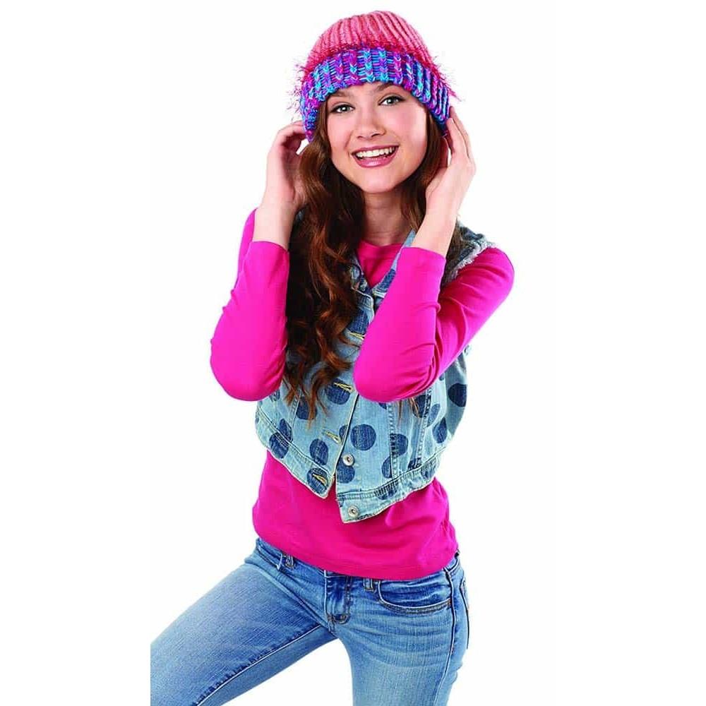 Cra-Z-Knitz set croșetat căciulă Beanie 17436 set tricotat Cra-Z-Art