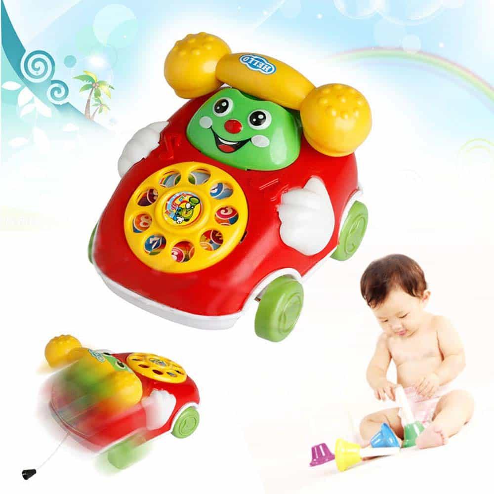 Jucărie interactivă Telefon plimbăreț cu sunete PhoneCar pt bebe