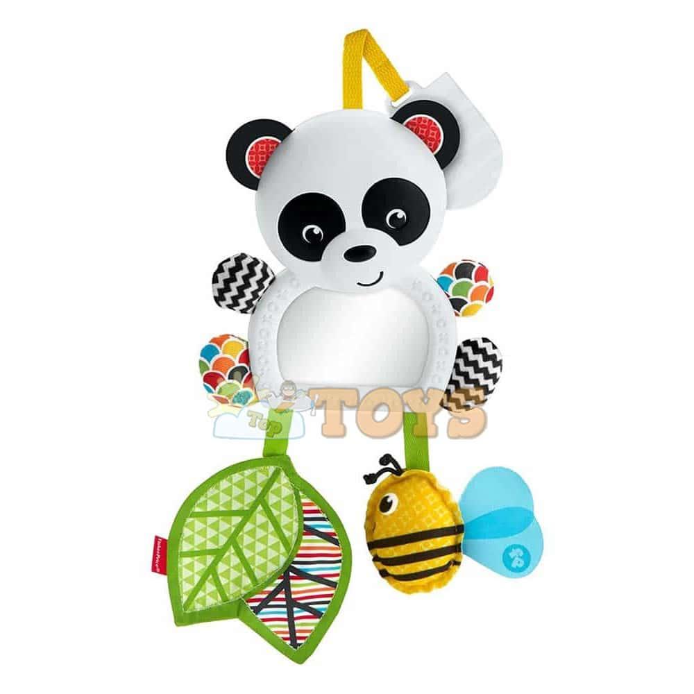 Fisher-Price Jucărie cărucior On The Go ursuleț panda cu oglindă