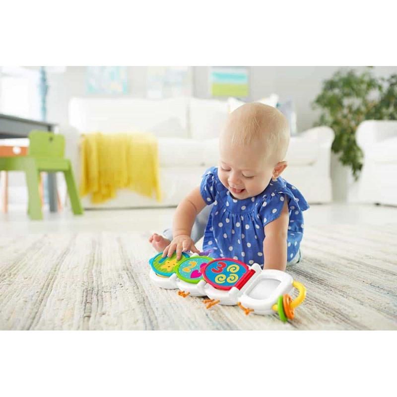 Fisher-Price Jucărie educativă Omidă săritoare DHW14 plină de surprize