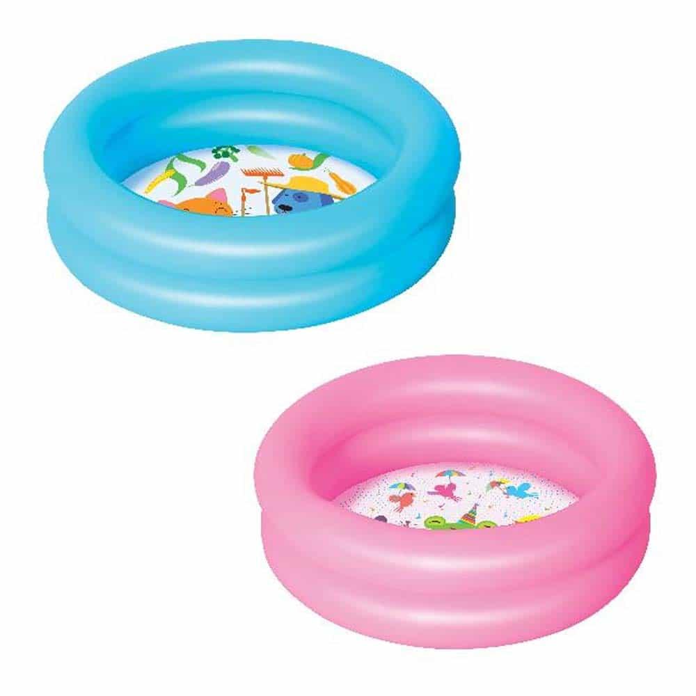 Piscină gonflabilă Bestway 51061 cu 2 inele 61x15cm albastru - roz