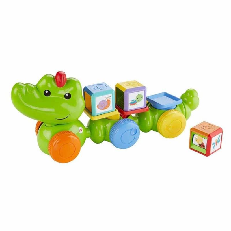 Fisher-Price Crocodil cu cuburi DGT90 Safari Mattel Crocodil amuzant