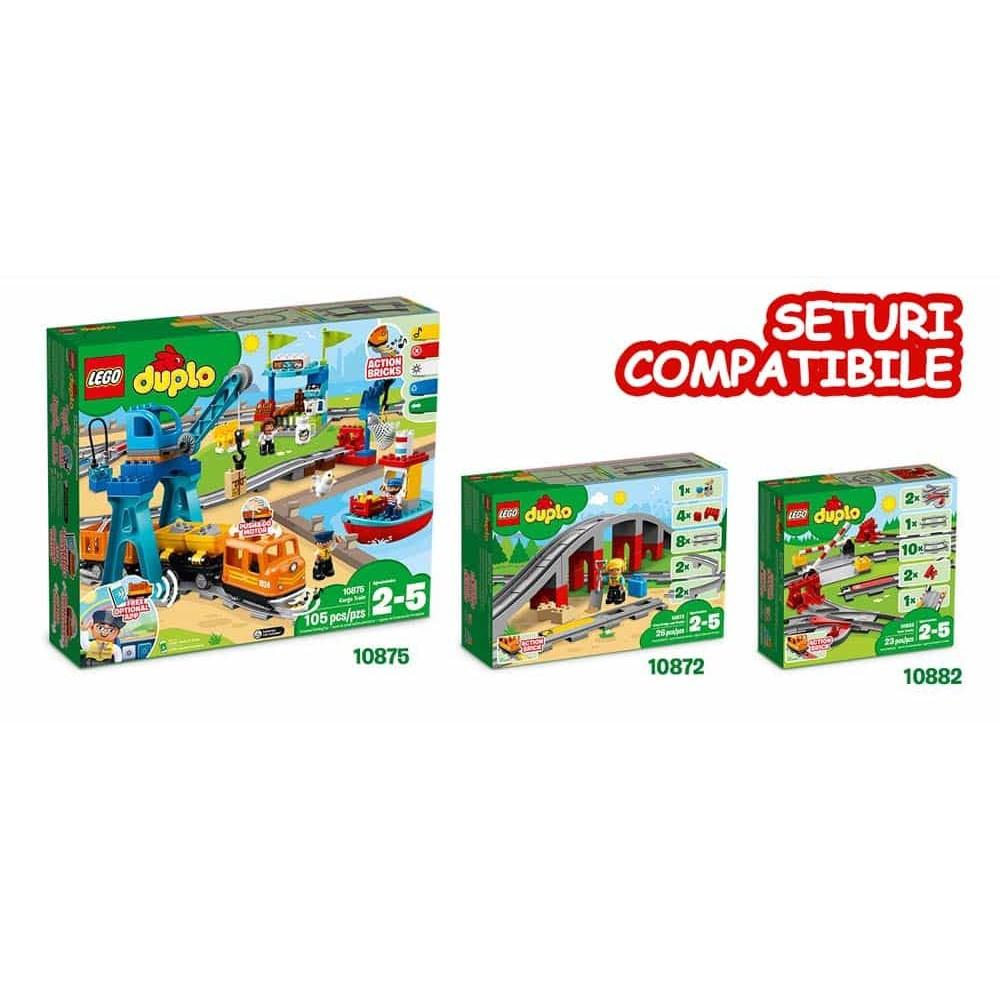 LEGO® DUPLO Tren cu aburi 10874 Steam Train Locomotivă cu motor