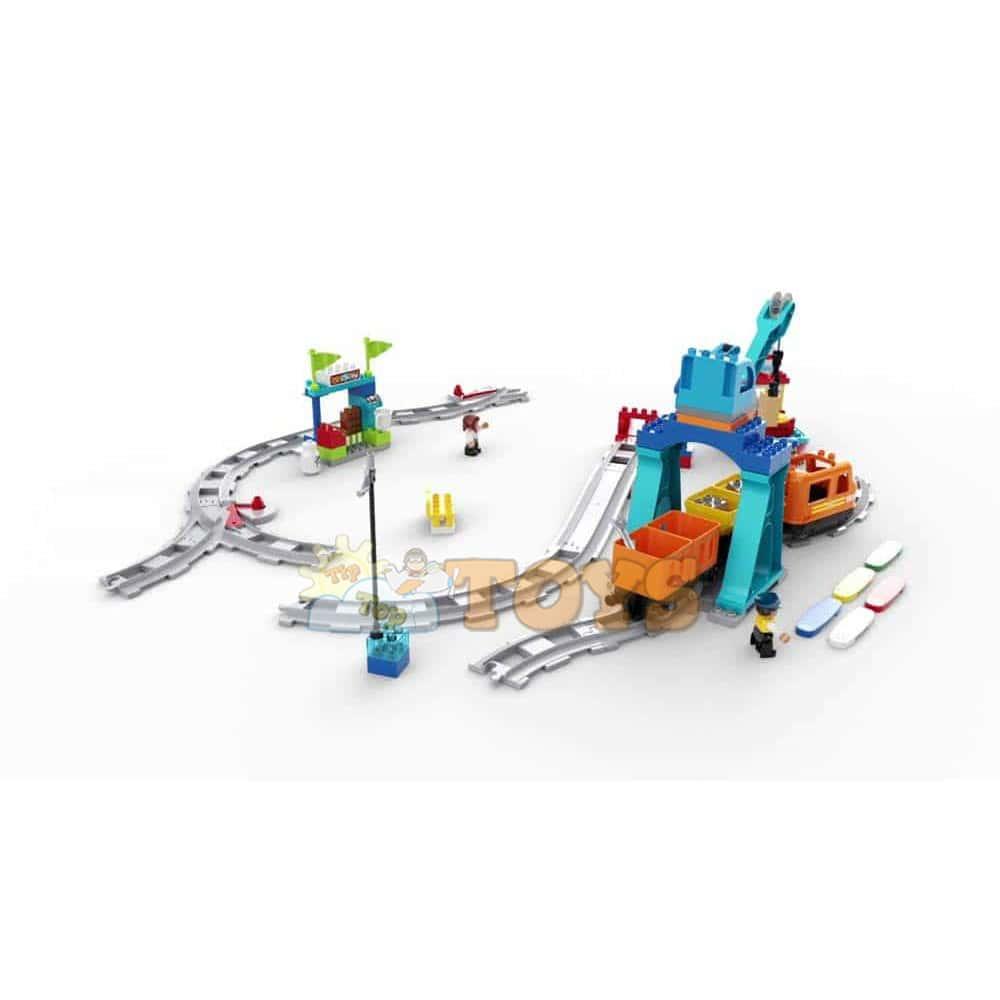 LEGO® DUPLO Marfar 10875 Cargo Train Locomotivă cu motor electric