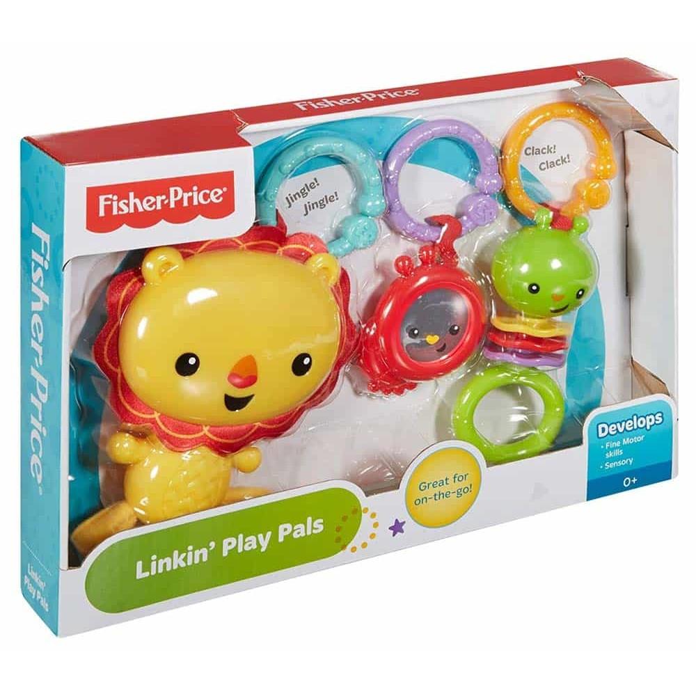 Fisher-Price Jucărie zornăitoare bebeluși Leu și prietenii săi DFP75