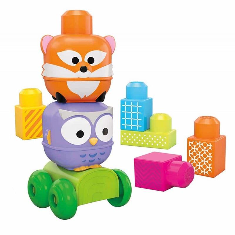 Mega Bloks Cuburi construcții Stack N Roll Vulpe Bufniță CNG20 10 buc