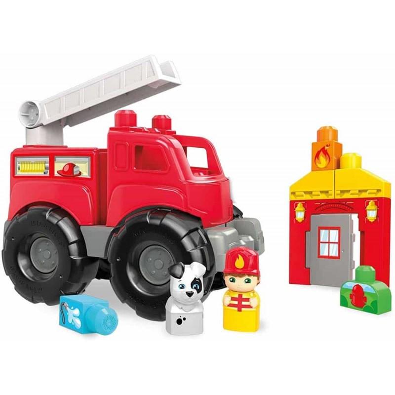 Mega Bloks Camion de pompieri mare DXH38 Mașină de pompieri