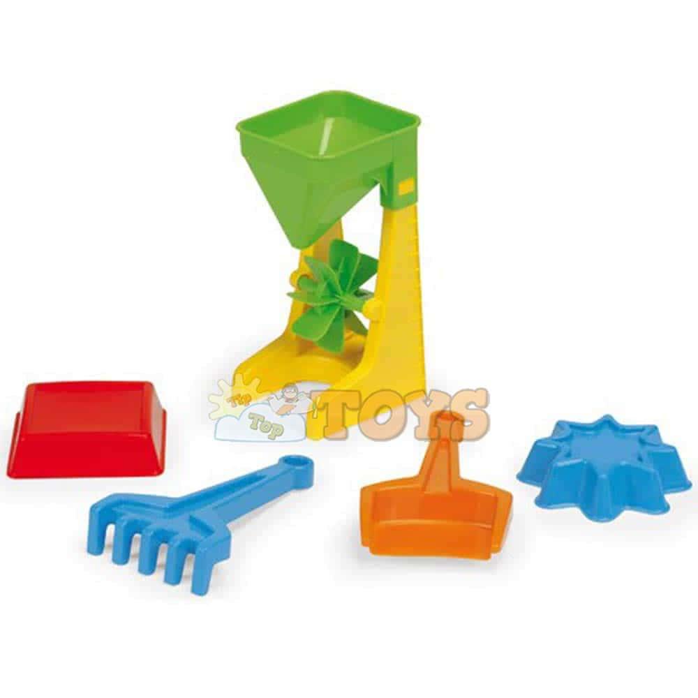Wader Moară de nisip cu accesorii 71450 Moară nisip cu 4 piese