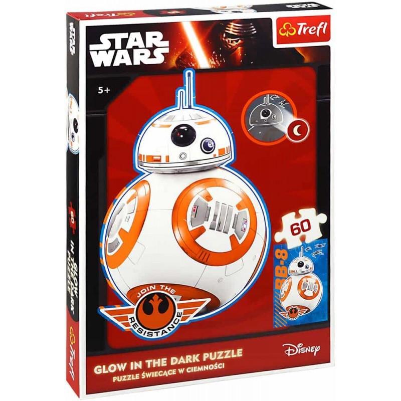 Trefl Star Wars BB-8 Puzzle fluorescent Glow in the dark 60 piese 14618