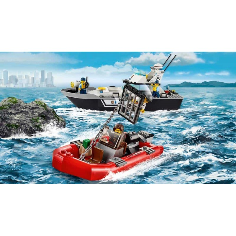 LEGO® City Nava de patrulare a poliției 60129 200buc Police Patrol Boat