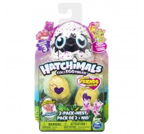 Set 2 figurine colectibile și cuib Hatchimals Colleggtibles Sezonul 3