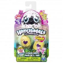 Set 2 figurine colectibile și cuib Hatchimals Colleggtibles Sezonul 3