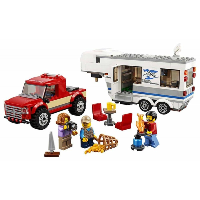LEGO® City Camionetă și rulotă 60182 344buc Pickup and Caravan