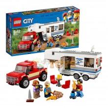 LEGO® City Camionetă și rulotă 60182 344buc Pickup and Caravan
