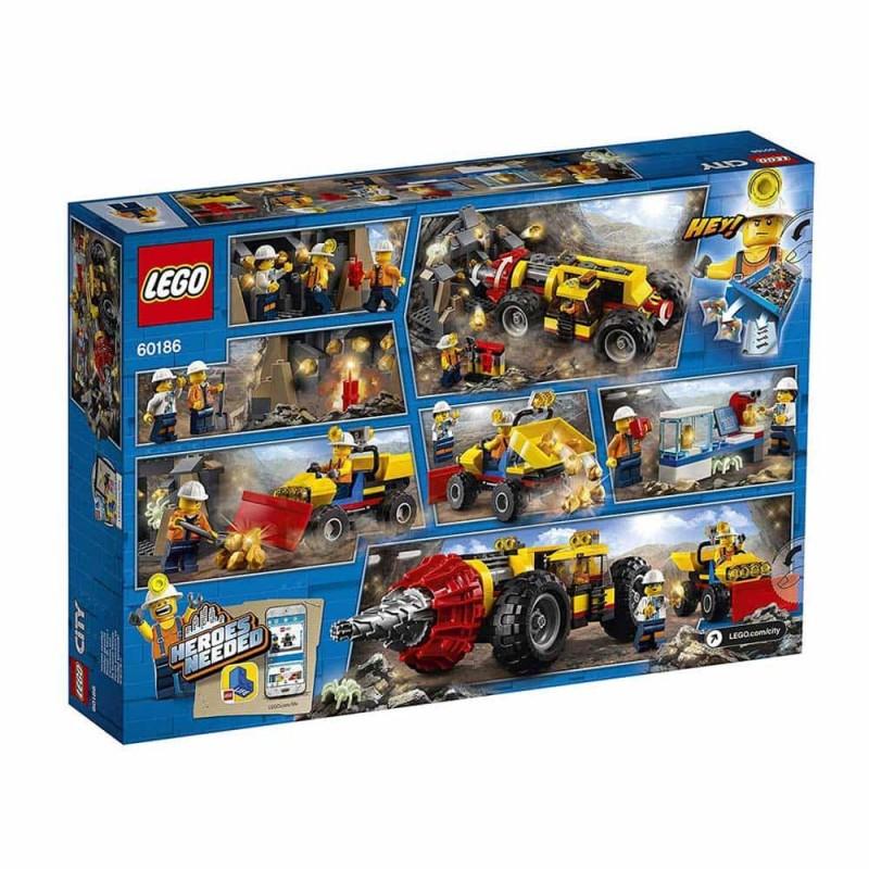 LEGO® City Foreză de minerit de mare putere 60186 294buc Driller