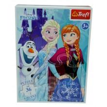 Puzzle Gigant Disney Frozen cu 36 piese Trefl