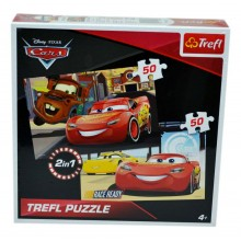 Puzzle Cars 2x50 piese Trefl Disney Pixar Cars 91536