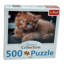 Puzzle Pisică maro Animal collection 500 piese Trefl 91538