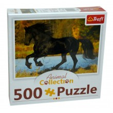 Puzzle Cal negru Animal collection 500 piese Trefl 91539