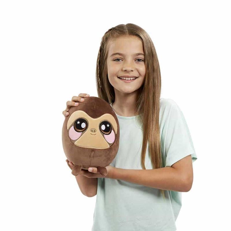 Jucărie Squishy pufoasă din pluș cu revenire lentă Squeezamals 20cm