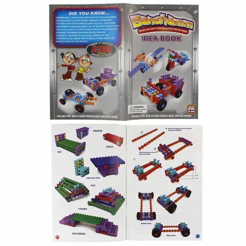 Joc construcții plastic în cutie BANCHAMM 130 piese Vehicule multicolor