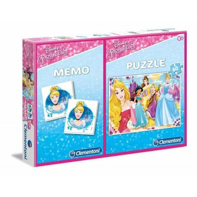 Clementoni Puzzle și joc memorie Disney Princess cu 60 piese 07915