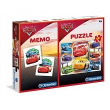 Clementoni Puzzle și joc memorie Disney Cars cu 60 piese 07918
