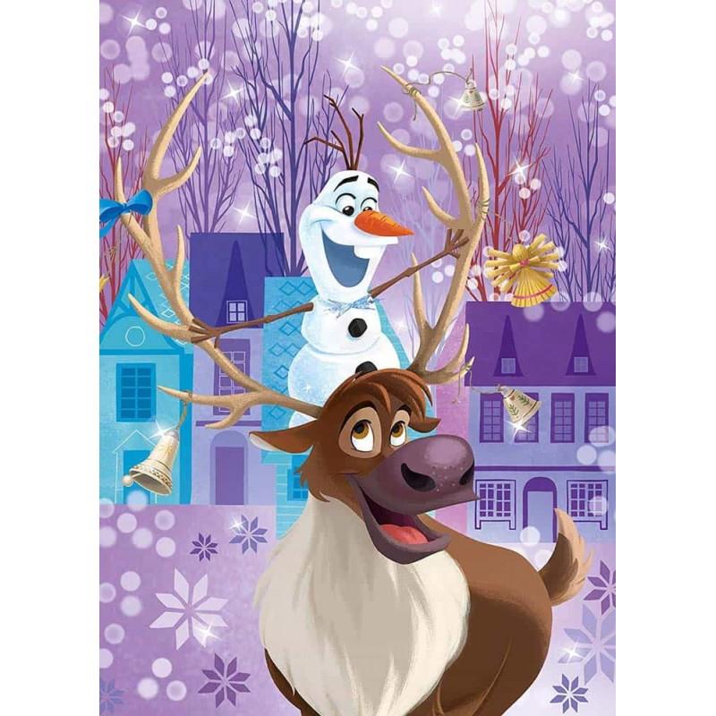 Clementoni Puzzle 3x48buc Disney Frozen Super Color Olaf's adventure