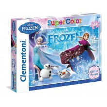 Clementoni Puzzle 104 piese sclipici Disney Frozen Super Color 29712