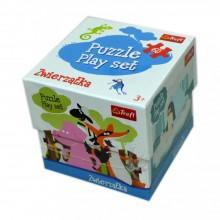 Trefl Set puzzle cu diverse animale 60 piese clasic pentru copii