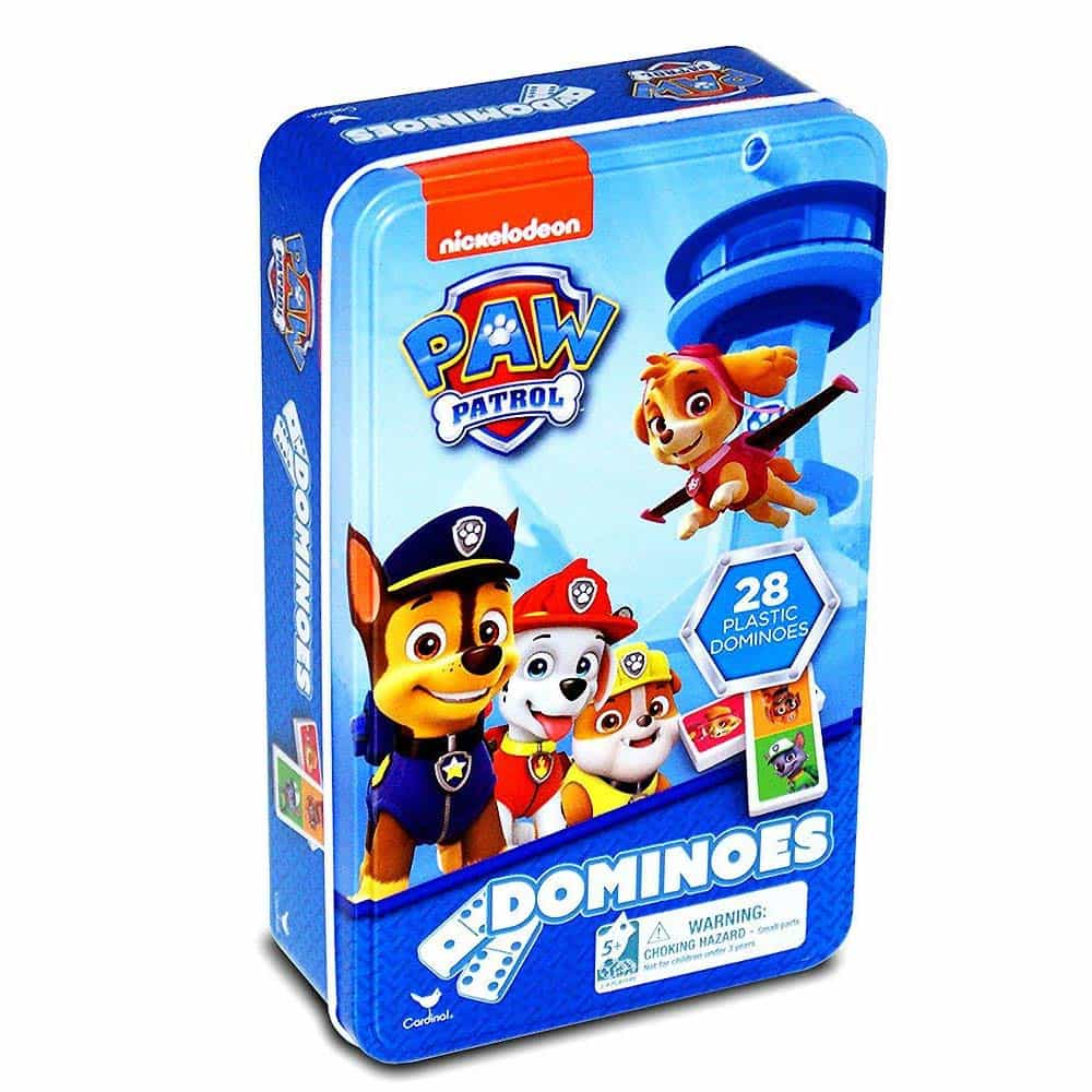 PAW Patrol Domino în cutie de metal Patrula Cățelușilor 28 piese 58603
