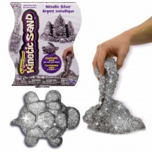 Nisip Kinetic Metalic argintiu strălucitor Kinetic Sand Metallic Silver 454g