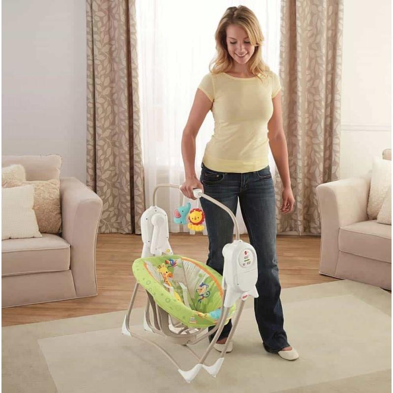 Sezlong pentru copii Fisher Price BFH05 Balansoar bebeluși Rainforest