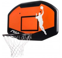 Panou coș de baschet cu inel și plasă STIGA Slam 44 Hoop portocaliu