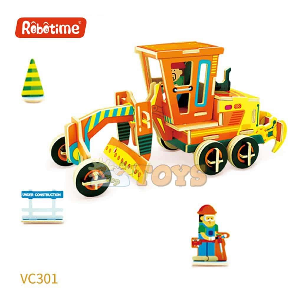 robud Puzzle 3D din lemn Mașină utilaj Freză VC301 60 piese Robotime