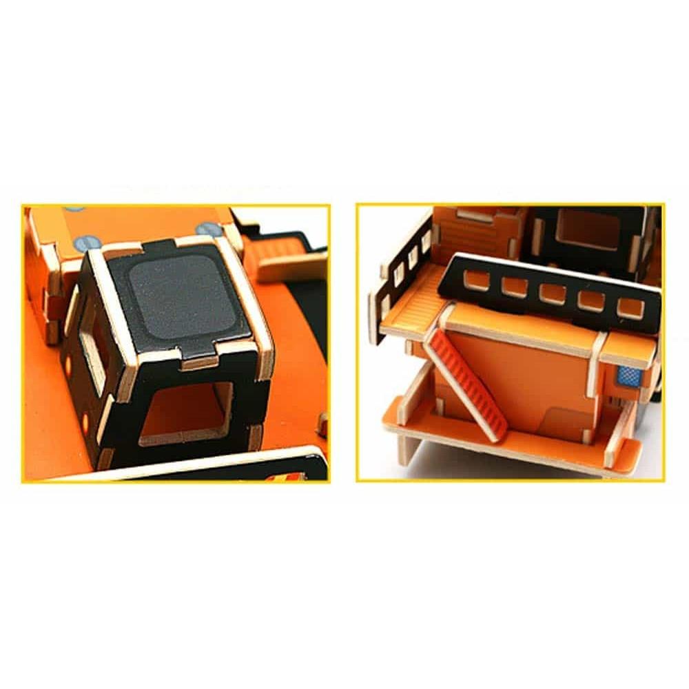 robud Puzzle 3D din lemn Utilaj mega basculantă VC403 67 piese Robotime