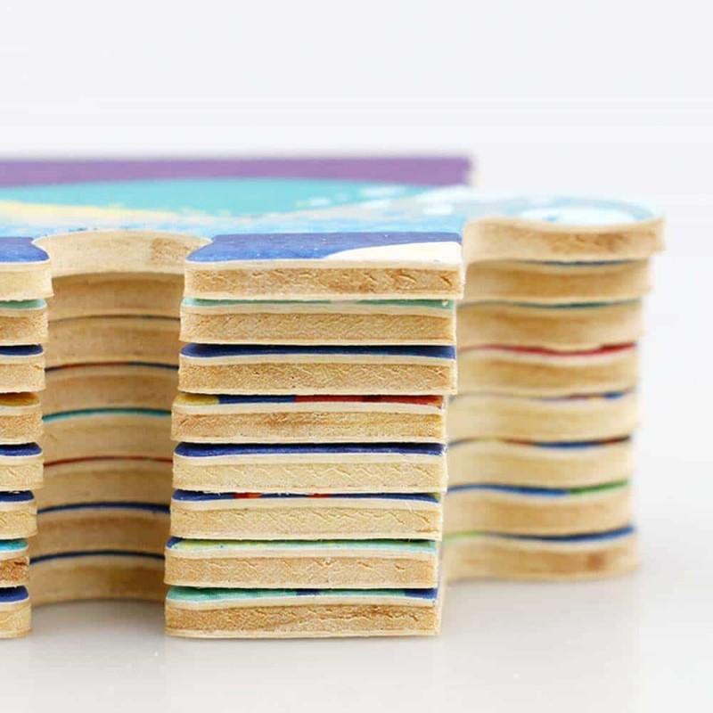 robud Puzzle din lemn Animale sălbatice 24 piese pentru copii DY2402