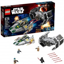 LEGO® Star Wars TIE Advanced al lui Vader contra A-Wing Starfighter