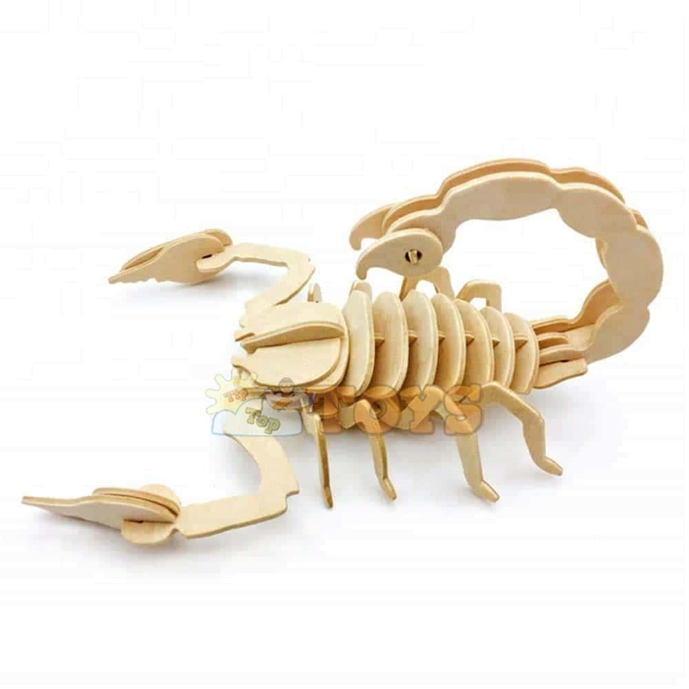 rowood Puzzle 3D din lemn Animale sălbatice Scorpion JP297 30 piese