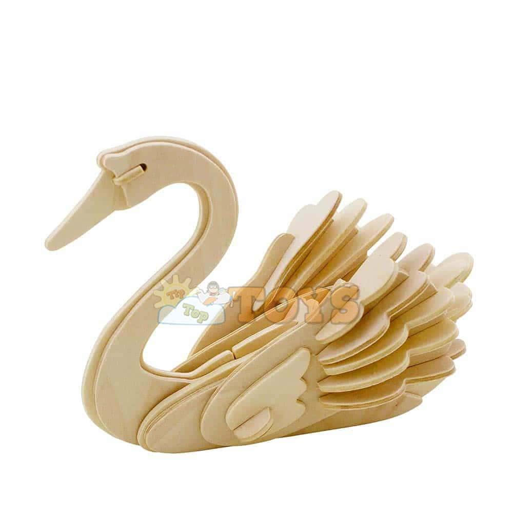 rowood Puzzle 3D din lemn Animale sălbatice Lebădă JP213 26 piese